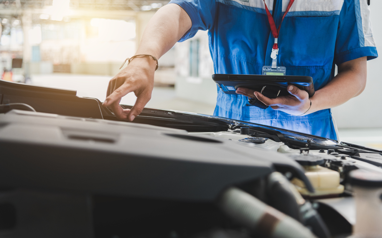What does a full vehicle service include?